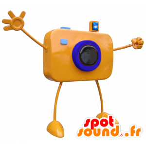 Oranje reus camera mascotte met grote armen - MASFR033101 - mascottes objecten