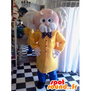 Elegante mascotte nonno con una giacca e una cravatta a farfalla - MASFR033108 - Umani mascotte