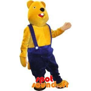 Mascote castor amarelo...
