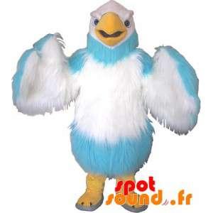Mascot Hairy Blue And White...
