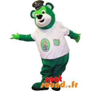 Green Bear maskot s...