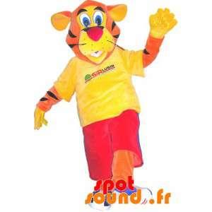 Tiger mascote vestida de...