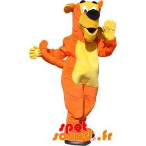 Giant Dog Mascot, Orange...
