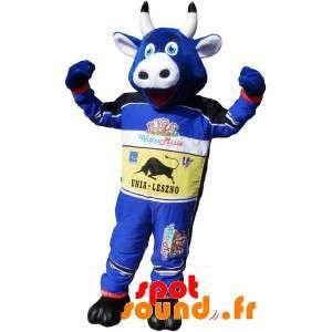 Sininen lehmä maskotti...