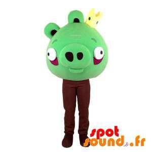Zielone maskotka Angry...