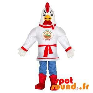 Blanco mascota del gallo...