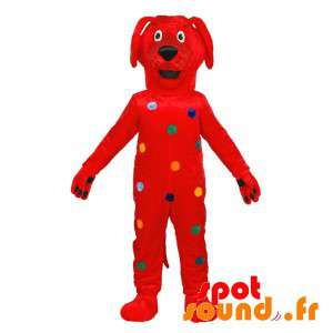 Red Dog Mascot With...