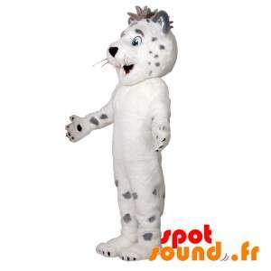 Mascot søt hvit og grå...
