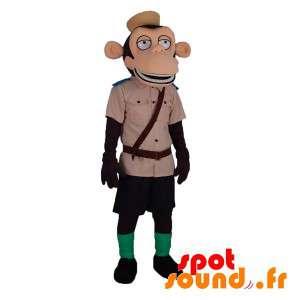 Monkey Mascot Holding...