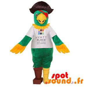 Parrot Mascot Dressed As A...