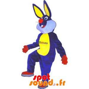 Mascotte de lapin bleu,...