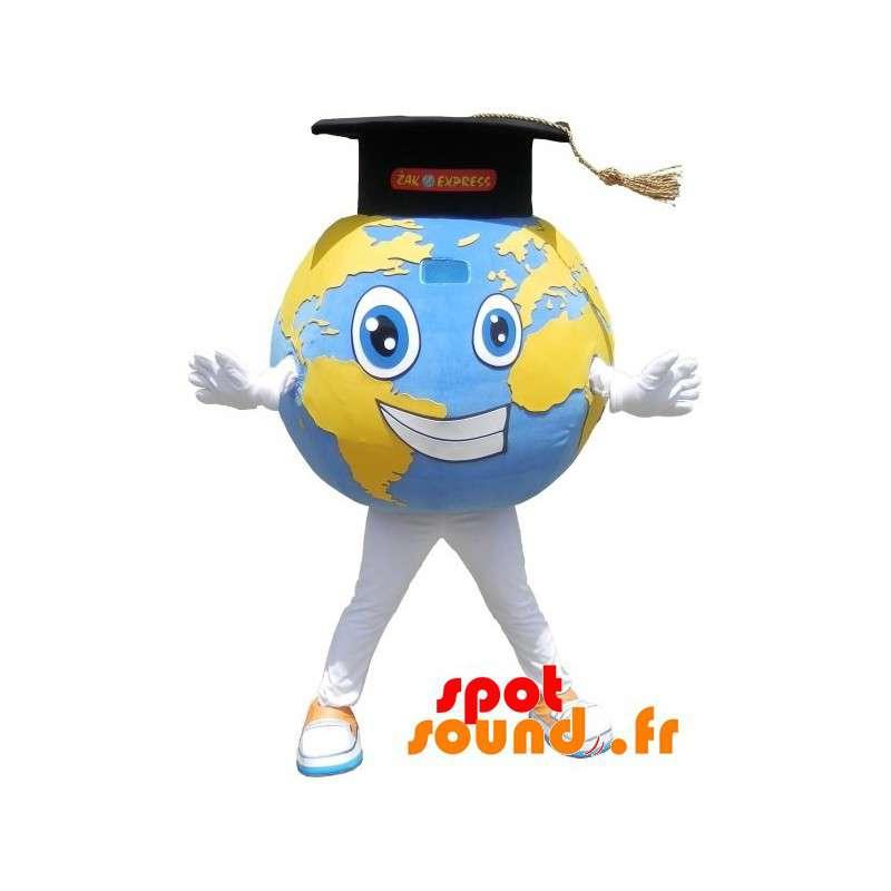 Erwerben Sie Riesen Weltkarte Maskottchen Mit Einer Graduierten