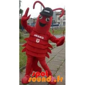 Mascotte de homard. Mascotte d'écrevisse géante