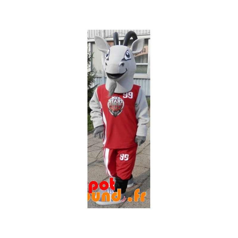 Sports Mascot Goat. Goat Gray Suit Sportswear