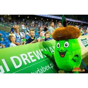 Mascot bruin en groen eikel...