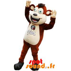 Brown And White Monkey...