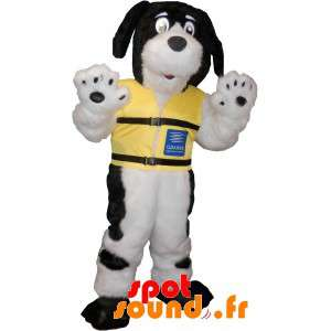 Dog Mascot Hairy Black And...