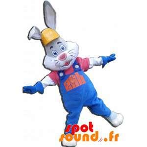 Mascotte de lapin gris et...