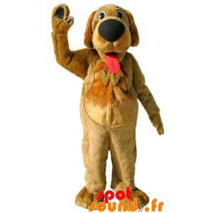 Mascotte de chien marron...