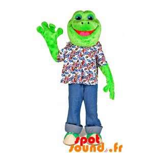Mascot grønn frosk, veldig...