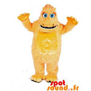 Yellow Hairy Monster Mascot...