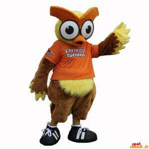 Brown And Yellow Owl Mascot...