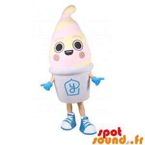 Maskot frossen yoghurt. Mascot gigantiske is