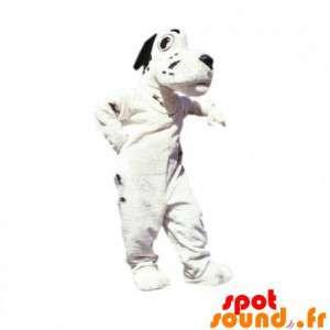 Mascotte de chien blanc et...