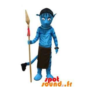 Blue Creature Mascot....