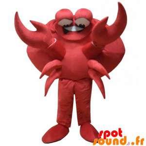巨大な赤いカニのマスコット。マスコットの甲殻類