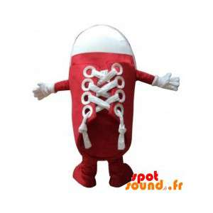 Mascot Red And White Shoe....