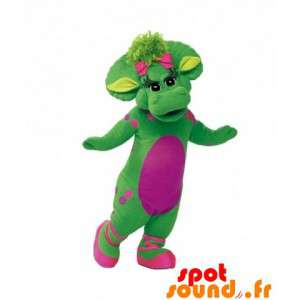 Mascot grün und rosa...