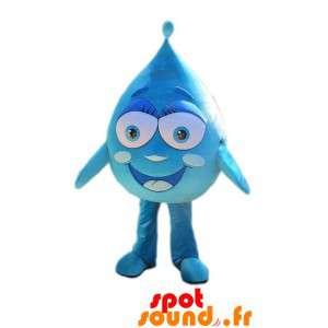 Mascot gigantiske blå dråpe...