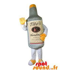 Fles mascotte grijs Vodka...