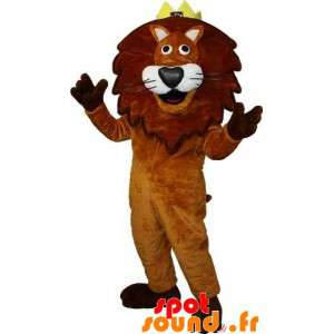 Brown And White Lion Mascot...