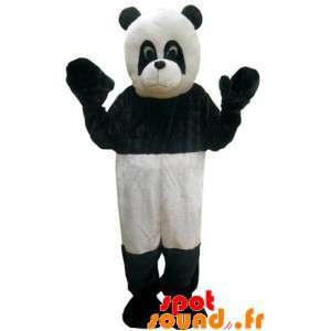Černá a bílá panda maskot....