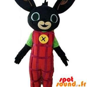 Zwart konijn mascotte...