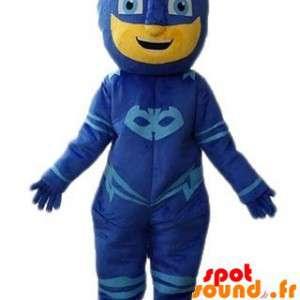 Maskerad maskerad snögubbe, superhjälte - Spotsound maskot