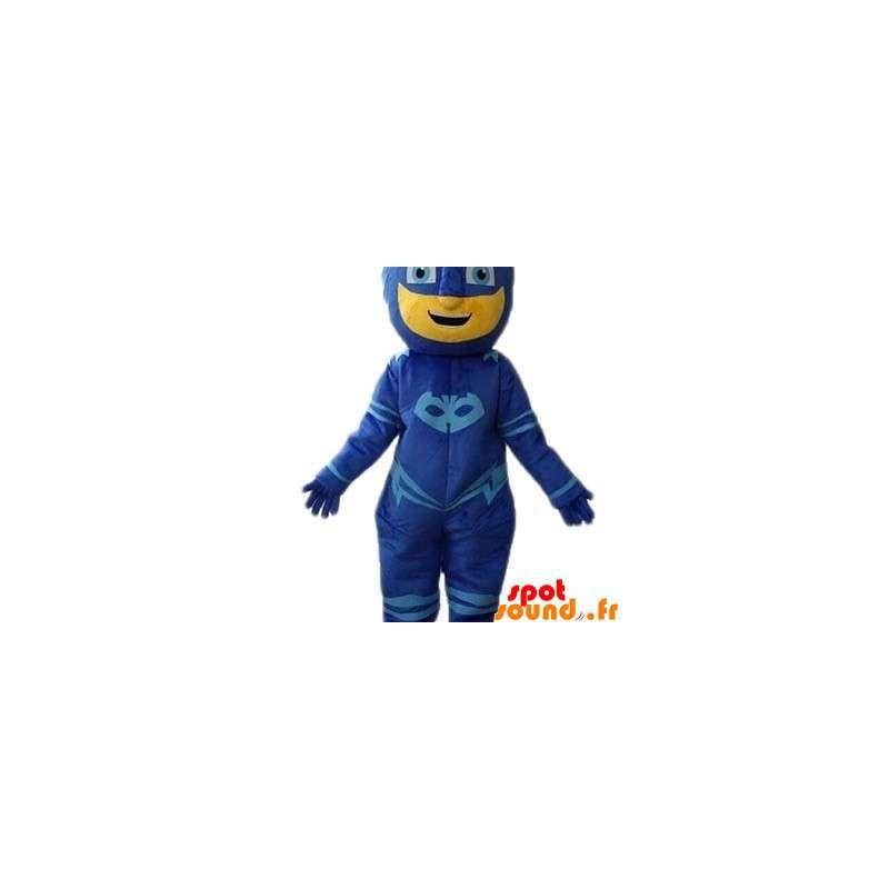 Mascotte de bonhomme masqué, de super héros