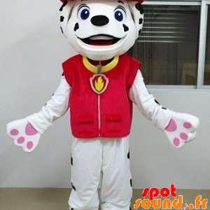 Mascot hvit og svart hund,...