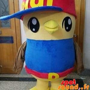 Żółty ptak maskotka, chick,...