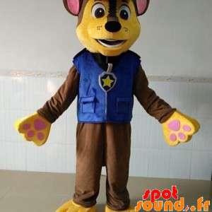 Mascote marrom e amarelo...