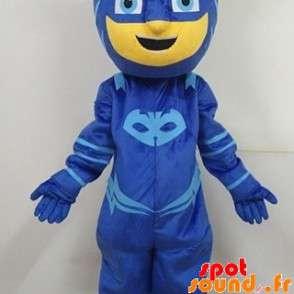 Mascot maskert mann, superhelt