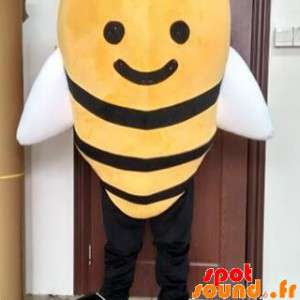 La mascota gigante de abeja...