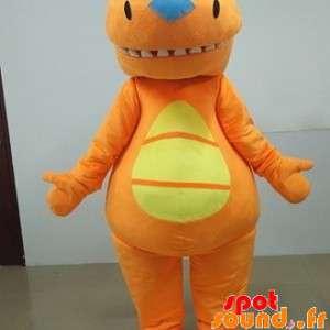 Oransje og gult dinosaur...