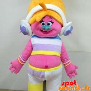 Mascot Pink Troll With...