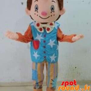 Błazen marionetka maskotka. Maskotka dla dzieci