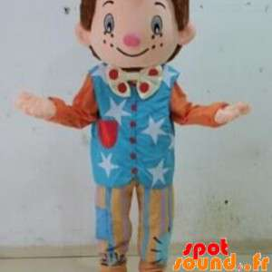 Mascotte de clown, de marionnette. Mascotte pour enfants