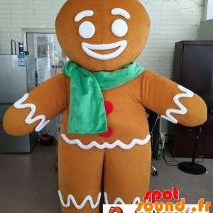 Ti Biscuit maskot, Shrek karakter med et tørklæde - Spotsound