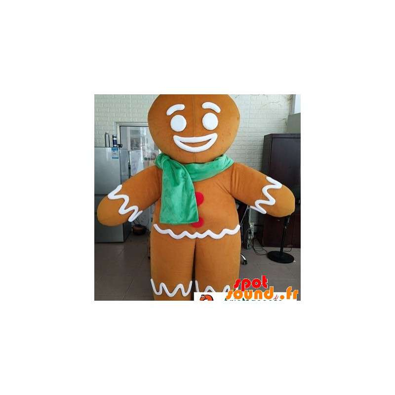 Mascot Gingy, Shrek Character With A Scarf